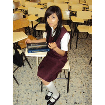 Jumper Uniforme Escolar Secundaria Fedl Color Vino 3er Grado
