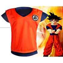 Arg Dragon Ball Traje De Goku Anime Manga Cosplay Unico Hwo