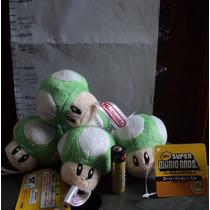 Llavero Peluche Hongo Verde Personajes Mario Bros Original