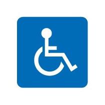 Rotulos Anuncio Vinil Sticker Discapacidad Silla De Ruedas
