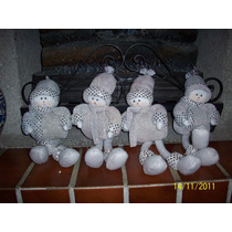 Snowboys Niños De Nieve Muñecos Hechos A Mano 35 Cms Aprox