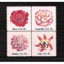1981 Estados Unidos Flores Plantas Ornato Block 4 Mnh Lbf