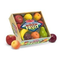 Set De Frutas Plasticas De Juguete Y Cajon Melissa & Doug