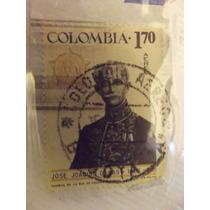 Timbre Postal José Joaquin Casas , Colombia1967 Mn4
