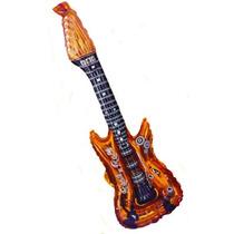 Guitarras Inflables Luz Led Para Fiesta Y Animacion 10 Pzas