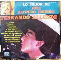 Bolero, Fernando Allende, Lp 12´, Hecho En México, Idd