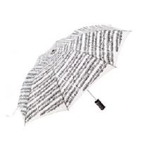 Increíble Sombrilla Blanca Con Estampado De Partituras