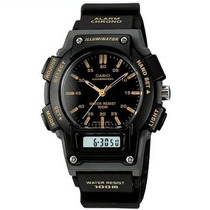 Reloj Casio Aq150 Analogo Digital Alarma Cronometro Luz