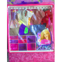 Barbie Gran Set De Ropa Y Accesorios Modelo 2