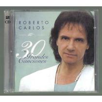 Roberto Carlos 30 Grandes Exitos Cd Doble 1a Ed Año 2000 Op4