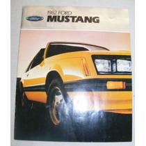 Catalogo De Ford Mustang 1982 Nuevo