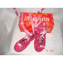 Geniales Zapatos Flat De Ballet Para Niña Color Rosa