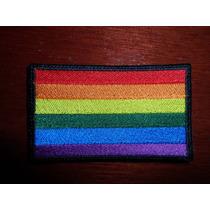 Parche Escudo Bordado Bandera Gay Arcoiris