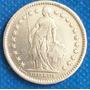 2 Francos 1913 Plata Suiza Moneda Hélvetia De Pie - Hm4