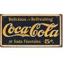 Poster Metalico Litografia Lamina Decorativa Coca Cola 5c