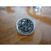 Pentagrama Barroco En Anillo De Plata, El Mejor Terminado