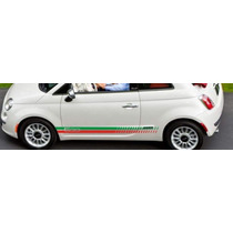Franjas Sticker Vinil Fiat 500 Italian Side Stripes Down