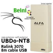 Adaptador Red Wifi Alfa Ubdo-nt8 Mejorado 1.5km 2000mw 12dbi