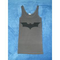 Blusa Camiseta Dark Knight Batman Logo Escudo Gris