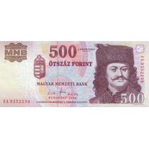 Grr-billete De Hungría 500 Forint 2008