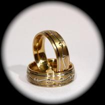 Argollas Matrimoniales Con Comfort Fit Oro 14k