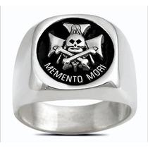 3605 Anillo Mason De Plata .925 Memento Mori