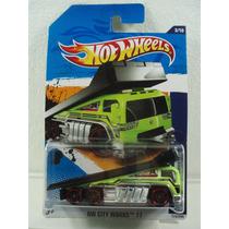 Hot Wheels Camion Grua Back Slider Verde 2011 1:64 Metal Ndd