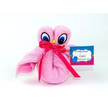 Buho De Toalla Personalizado Para Recuerdo Baby Shower