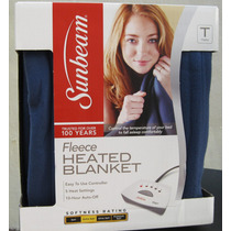 Cobertor Eléctrico Sunbeam Cama Individual Lavable A Maquina