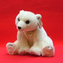 Adorable Oso Polar De Peluche Marca Aurora Miyoni Mediano