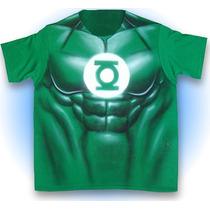 Playera Linterna Verde Musculoso Fiesta Disfraz Phantomasx 1