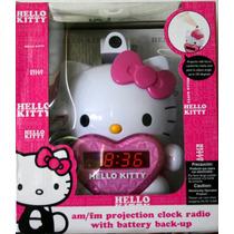 Hello Kitty Radio Reloj Despertador Y Proyector Envio Gratis