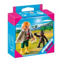 Playmobil 4757 Cuidadora Con Bebe Gorila Zoologico Retromex