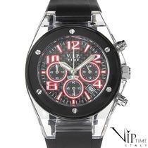 Reloj Vip Time Italy, Crono, Acero Y Policarbonato 5 Sp0