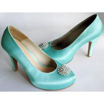 Zapatillas Color Menta Con Pedrería