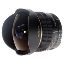 Rokinon 8mm Fish Eye Ojo De Pez F/3.5 Nikon Canon