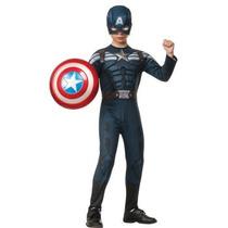 Oferta Unica! Disfraz Capitan America Para Niños Talla 12-14