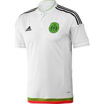 Jersey Selección México 2015-2016 Manga Corta Blanca
