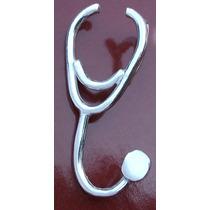 Dije Estetoscopio Reforzado Médico Enfermera En Plata Mn4