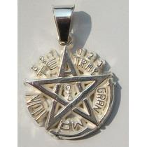 Dije De Tetragramaton Pentagrama En Plata Fina Ley.925