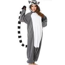 Lemur Catta Adulto Unisex Animales Kigurumi Cosplay Costume