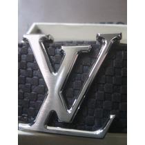 Precioso Cinturon Louis Vuitton Para Caballero En Gamuza