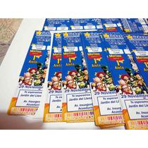 30 Invitaciones Personalizada Ticket Master Impresa Infanil