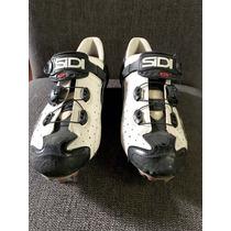 Zapatos De Ciclismo Sidi Mtb Drako 43 Blanco Negro Con Taqu