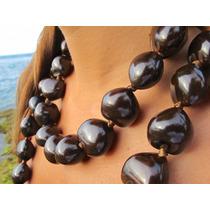 Collar De Kukui Hawaiano Semilla Original Colores