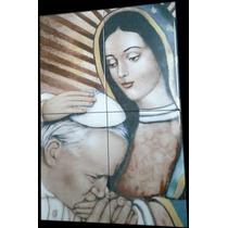 Virgen De Guadalupe Con El Papa Juan Pablo Azulejo