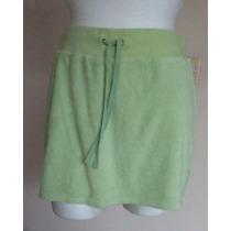 Minifalda Verde Tipo Deportivo Con Short Talla S! Fch337