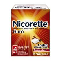 Chicles Nicorette 4mg 160 Piezas Sabor Canela Deja De Fumar