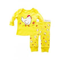 Pijama 2 Piezas Bebé Amarilla 0 Meses Baby Creysi Nueva
