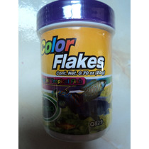 Color Flakes 20g Para Todo Tipo De Pez Tropical Mejora Color